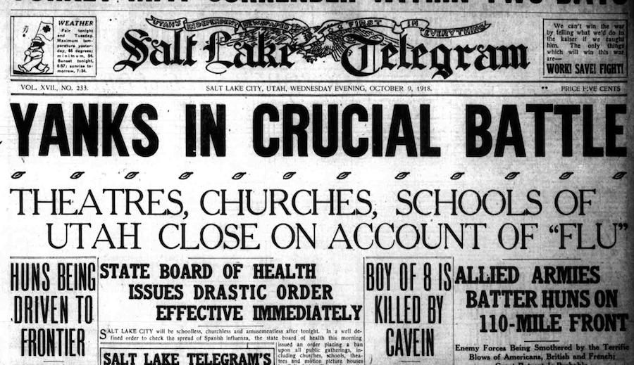 Salt Lake Telegram 1918 Flu